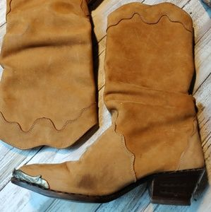 Zodiac suede leather boots